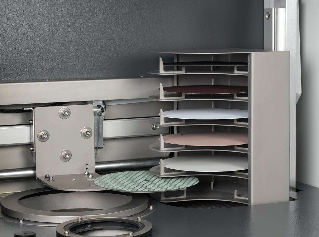 Magasin mobile de stockage des disques interchangeables Hexamatic