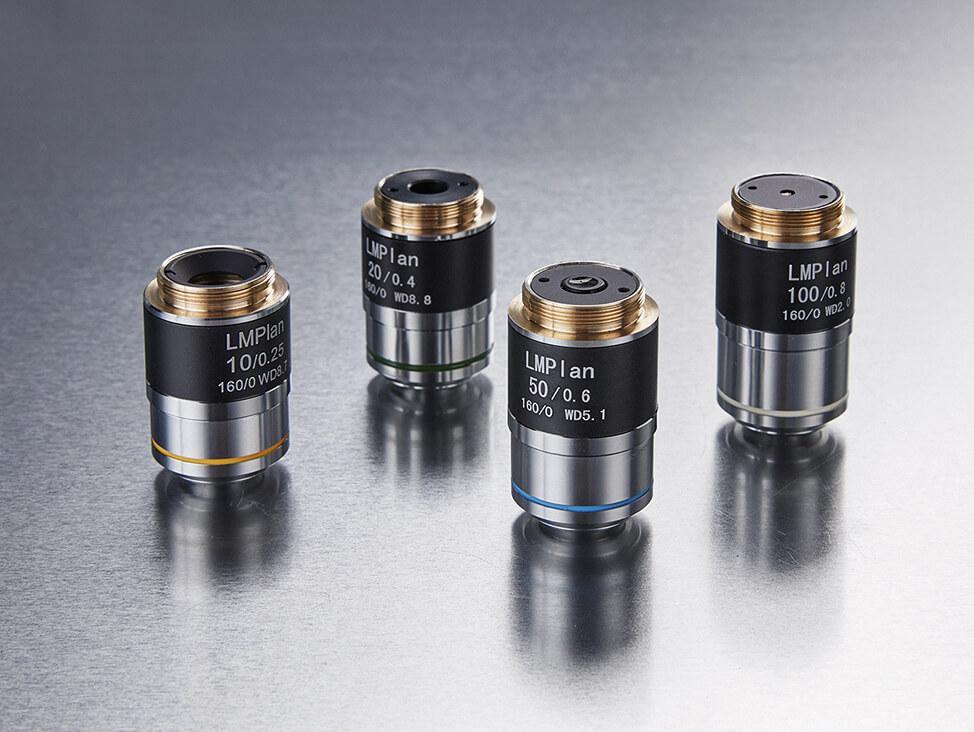Hardnes testing objective lenses