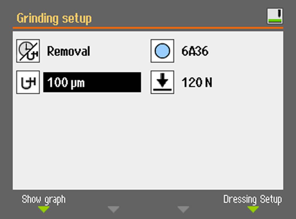 Control de eliminación de material de la AbraPlan 30