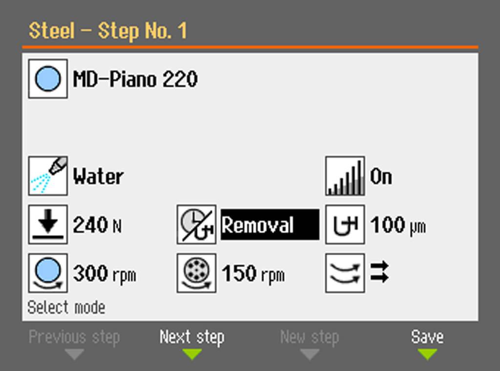 AbraPol 30 Removal rate sensor