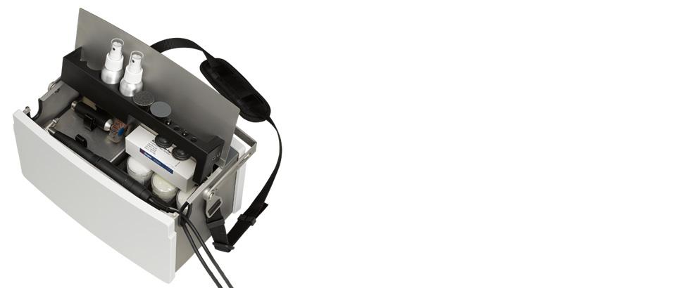 Transpol-5 es una máquina portátil de esmerilado/pulido metalográfico no destructivo.