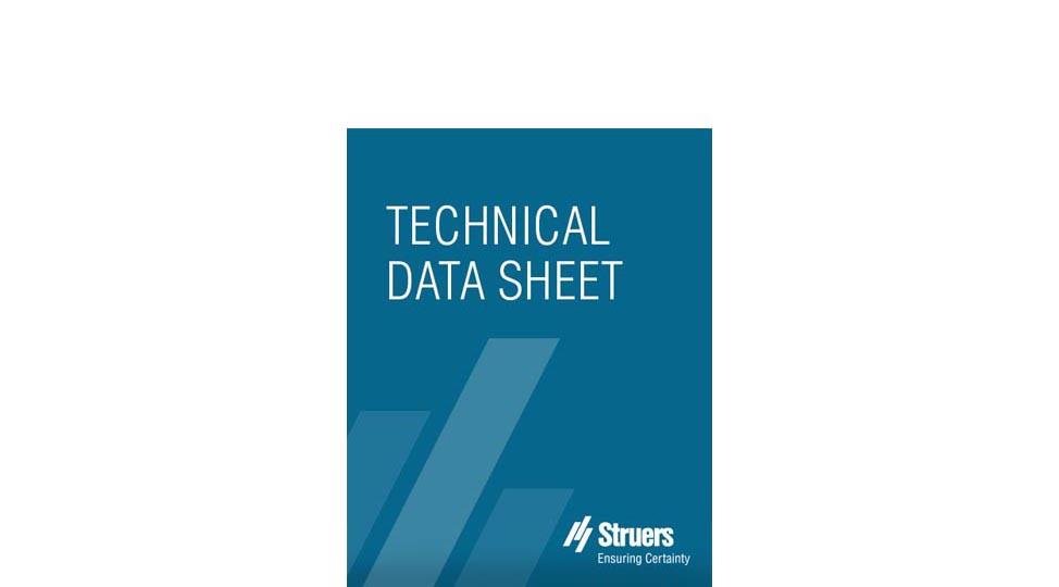 技术数据表