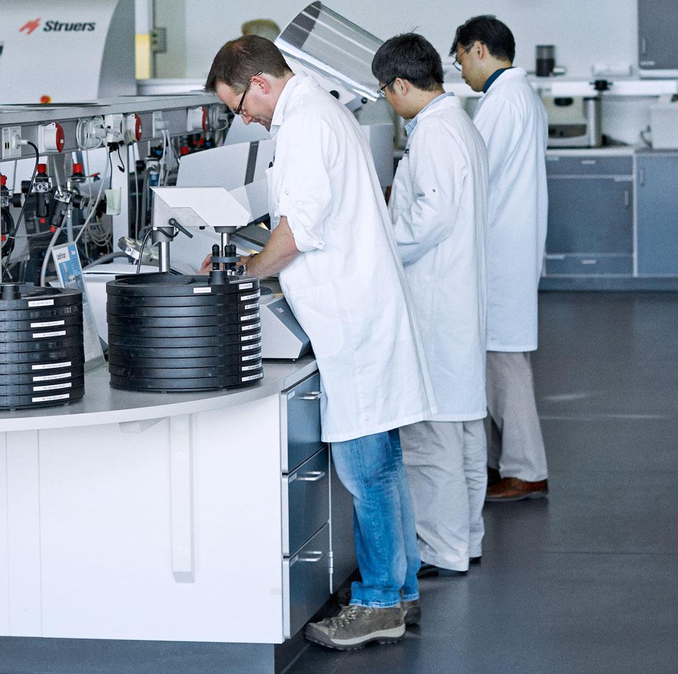 Materialographic laboratory 50 procent