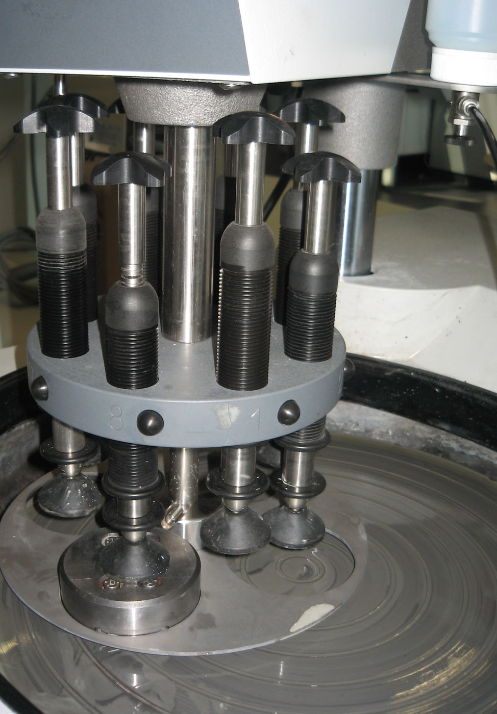 Grinding or lapping of thin sections
