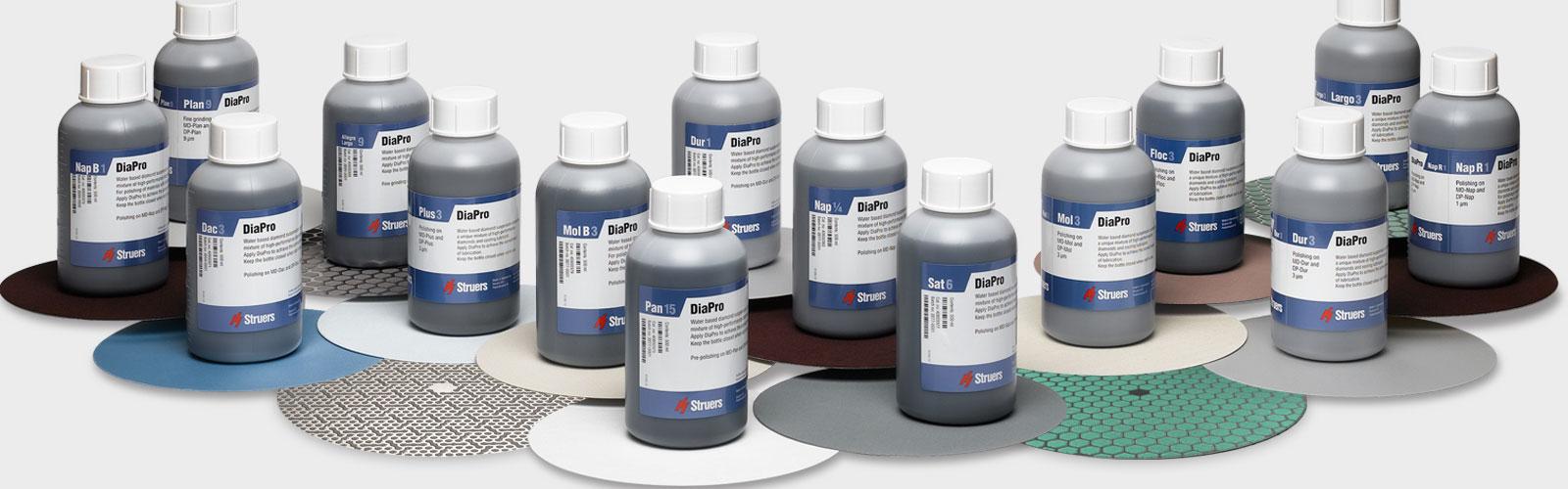Verbrauchsmaterialien für Schleif- und Poliergeräte