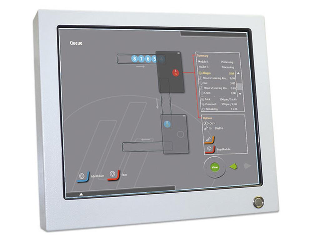 MAPS con pantalla de control táctil