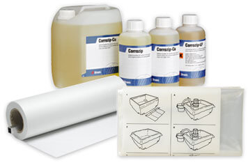 Struers additives, liners, and paper