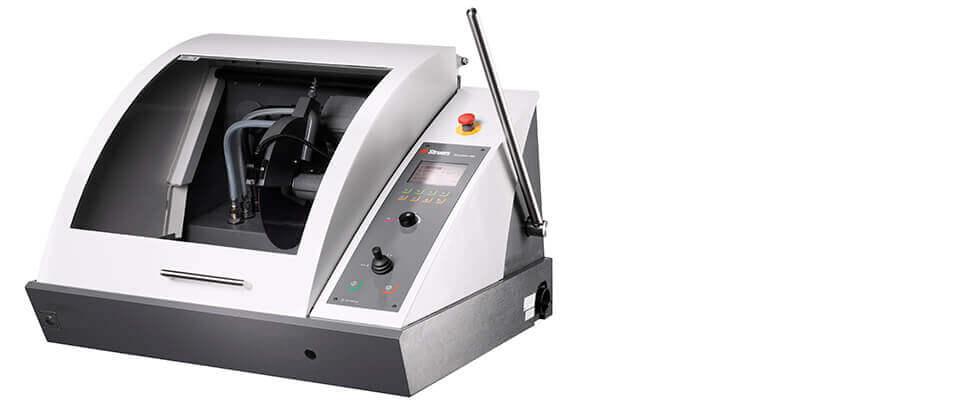 回転速度調整可能なディスコトム-100 自動切断機